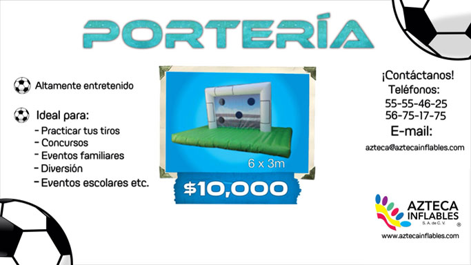 inflable porteria